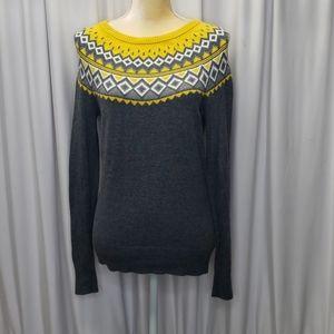 Merona gray & Yellow sweater
